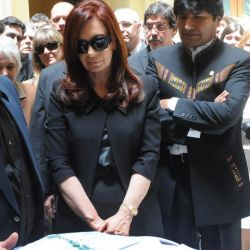 Diego Maradona y Cristina Fernández en el funeral de Néstor Kirchner. // Cedoc Perfil