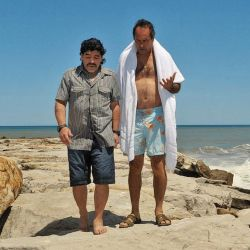 Diego Maradona junto a Daniel Scioli en Mar del Plata.  // Cedoc Perfil
