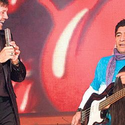 Diego Maradona en el programa de Marcelo Tinelli. // Cedoc Perfil