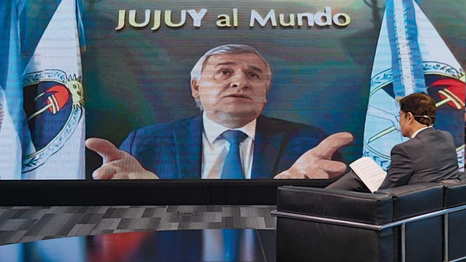 Gerardo Morales, en la entrevista con Jorge Fontevecchia.