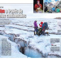 Un espectacular trekking de seis días a través de hielos continentales.