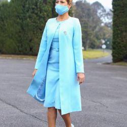 Fabiola Yañez vestida por Cynthia Martos