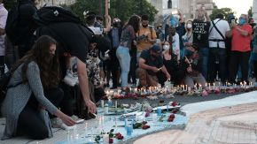 Postales de la marcha conmemorativa de Néstor Kirchner, el pasado 27 de octubre. Fotos de Néstor Grassi.