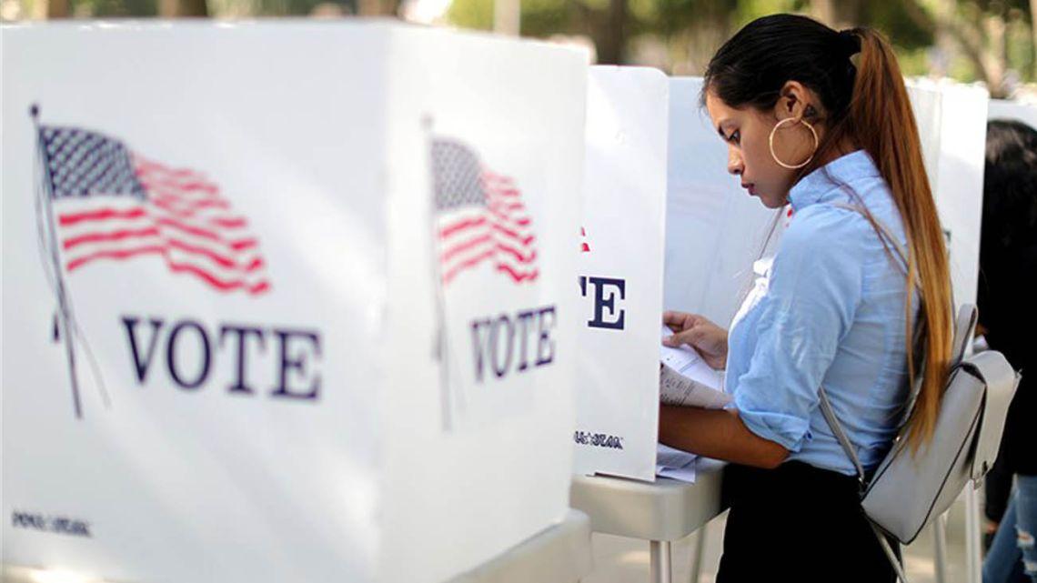 A woman seeking information regarding US elections.