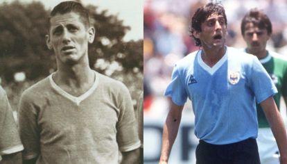 Juan Alberto Schaffino y Enzo Francescoli, símbolos de Uruguay y reconocidos por France Football.