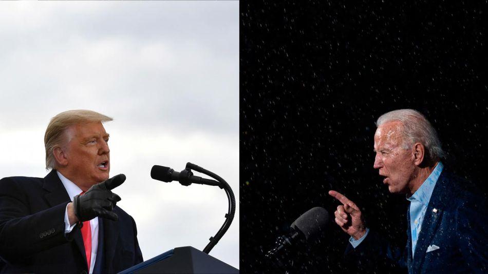 Donald Trump y Joe Biden, la lucha por la Casa Blanca en Estados Unidos.