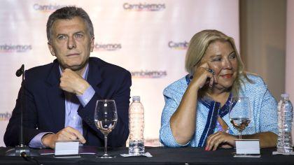 Archivo. Miradas opuestos, las de Carrió y Macri sobre el camino a tomar.