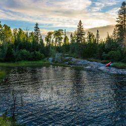 Otro sitio muy interesante es el Parque Nacional Isle Royale, en medio frío lago Superior.
