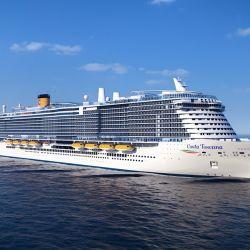 El Costa Toscana inaugurará sus viajes por el Cono Sur a partir de diciembre de 2021, desde Brasil.