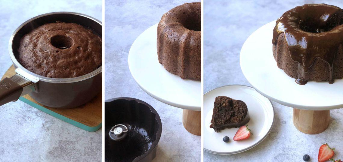 Receta sencilla de budín súper húmedo de chocolate, banana y nuez