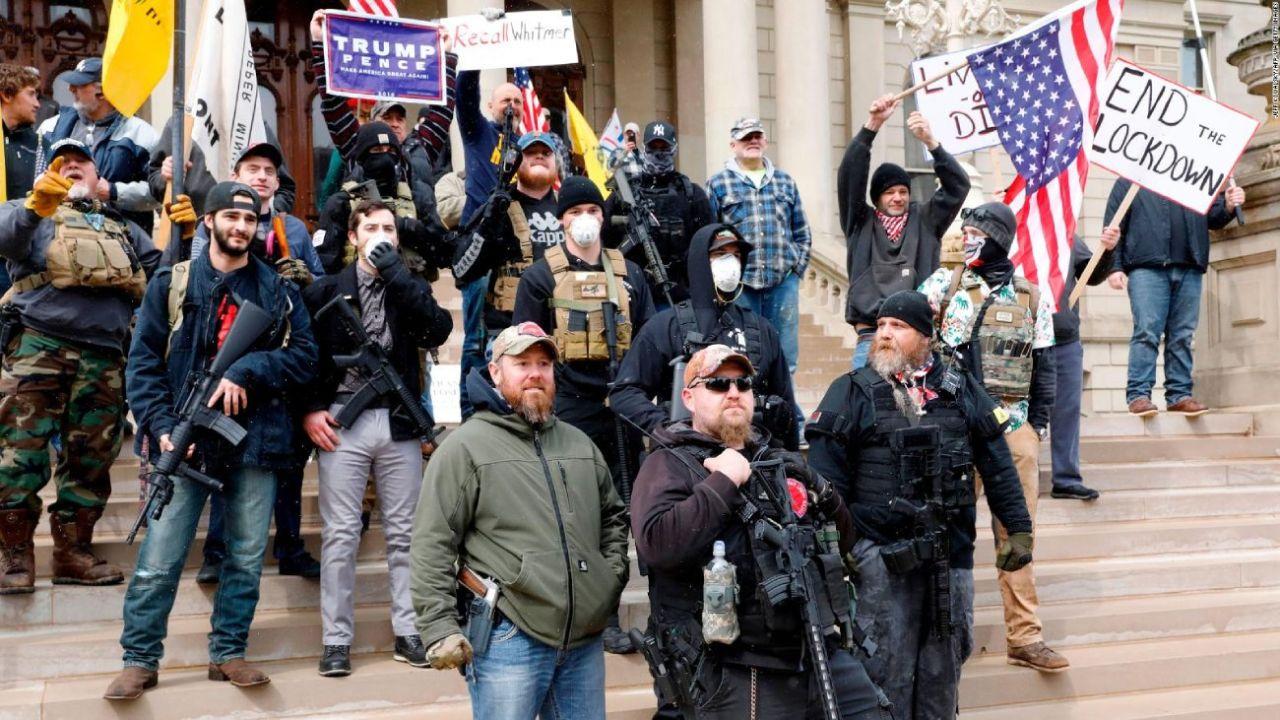 Manifestantes armados pro Trump en Carolina  | Foto:CEDOC