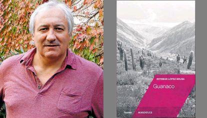 """Esteban López Brusa y su libro """"Guanaco"""" (Mardulce)."""