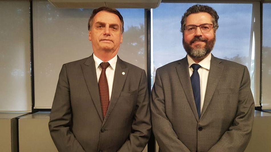 bolsonaro y  su polémico canciller 20201102