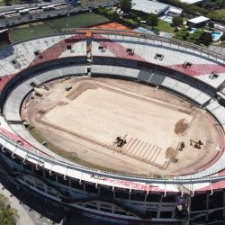Las obras en el estadio de River Plate se estima que finalizarán en marzo 2021.
