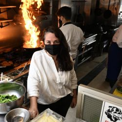 Narda Lepes – who has been named the best female chef in Latin America by a panel of critics who each year draw up a list of the best 50 restaurants in the world – is pictured at her restaurant Narda Comedor in Belgrano, Buenos Aires.
