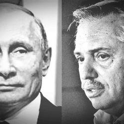 Vladímir Putin y Alberto Fernández.