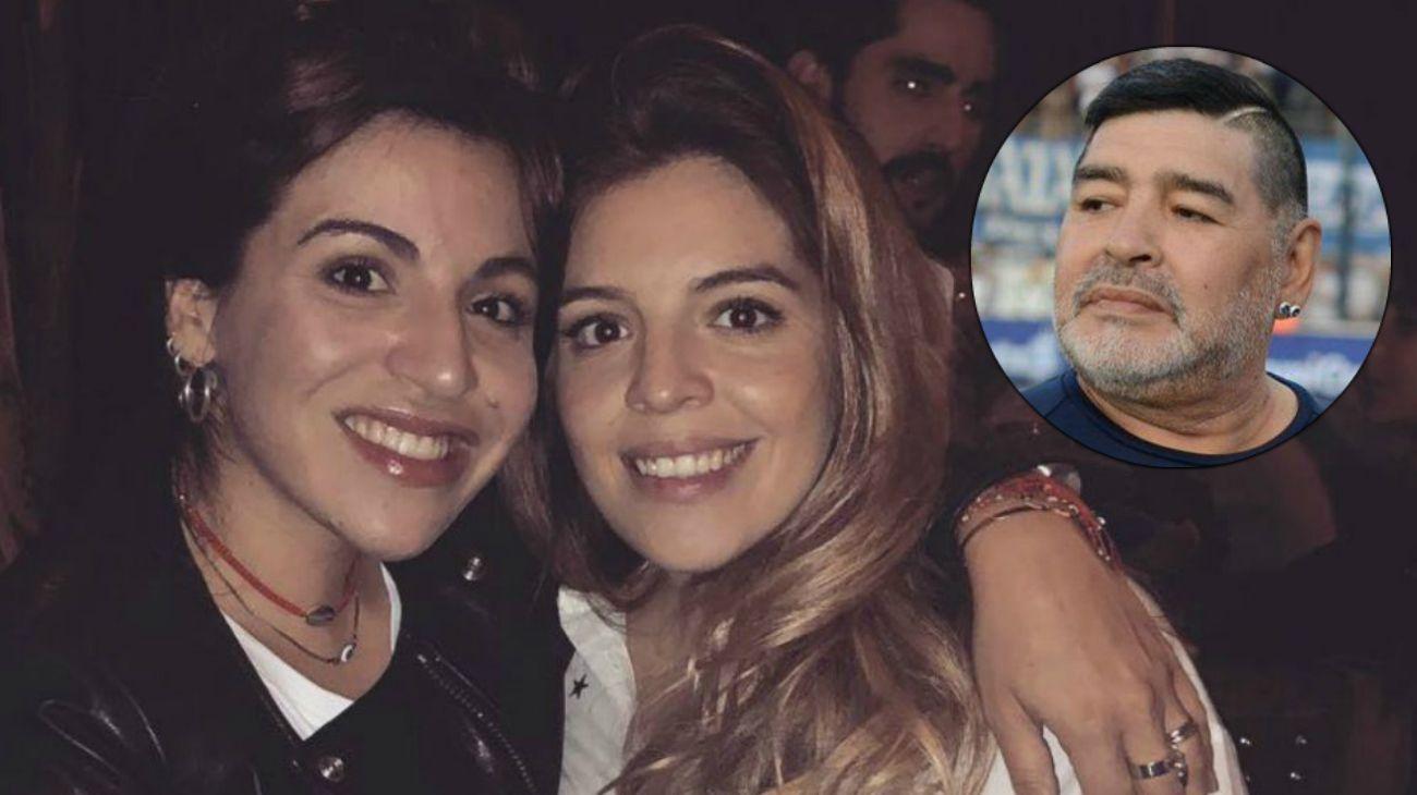 Gianinna, Dalma y Diego Maradona