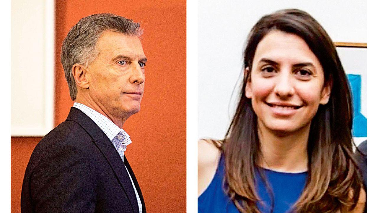 Mauricio Macri y su hija, Gimena   Foto:cedoc