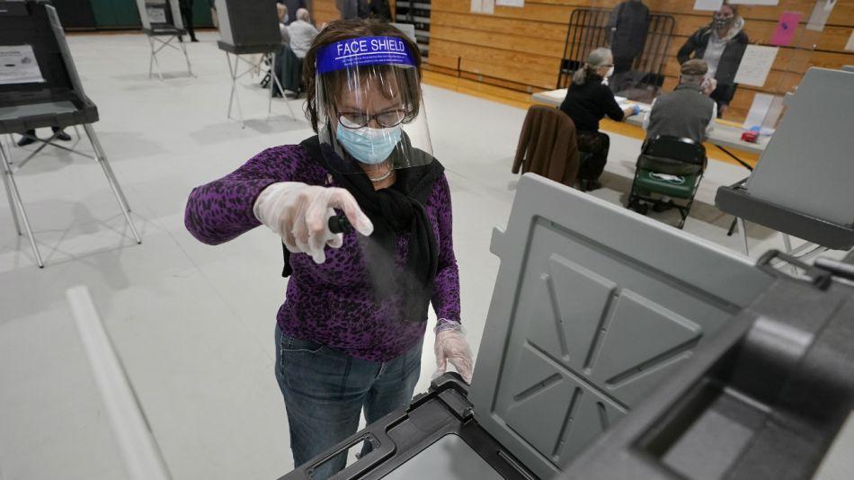 Elecciones en Estados Unidos. Votación presencial.