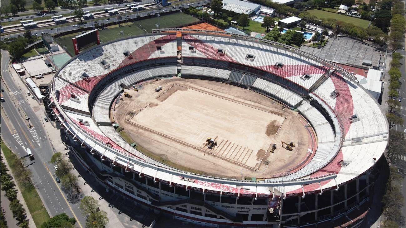 Viajes en Dron: cancha de River Plate, así están hoy las reformas