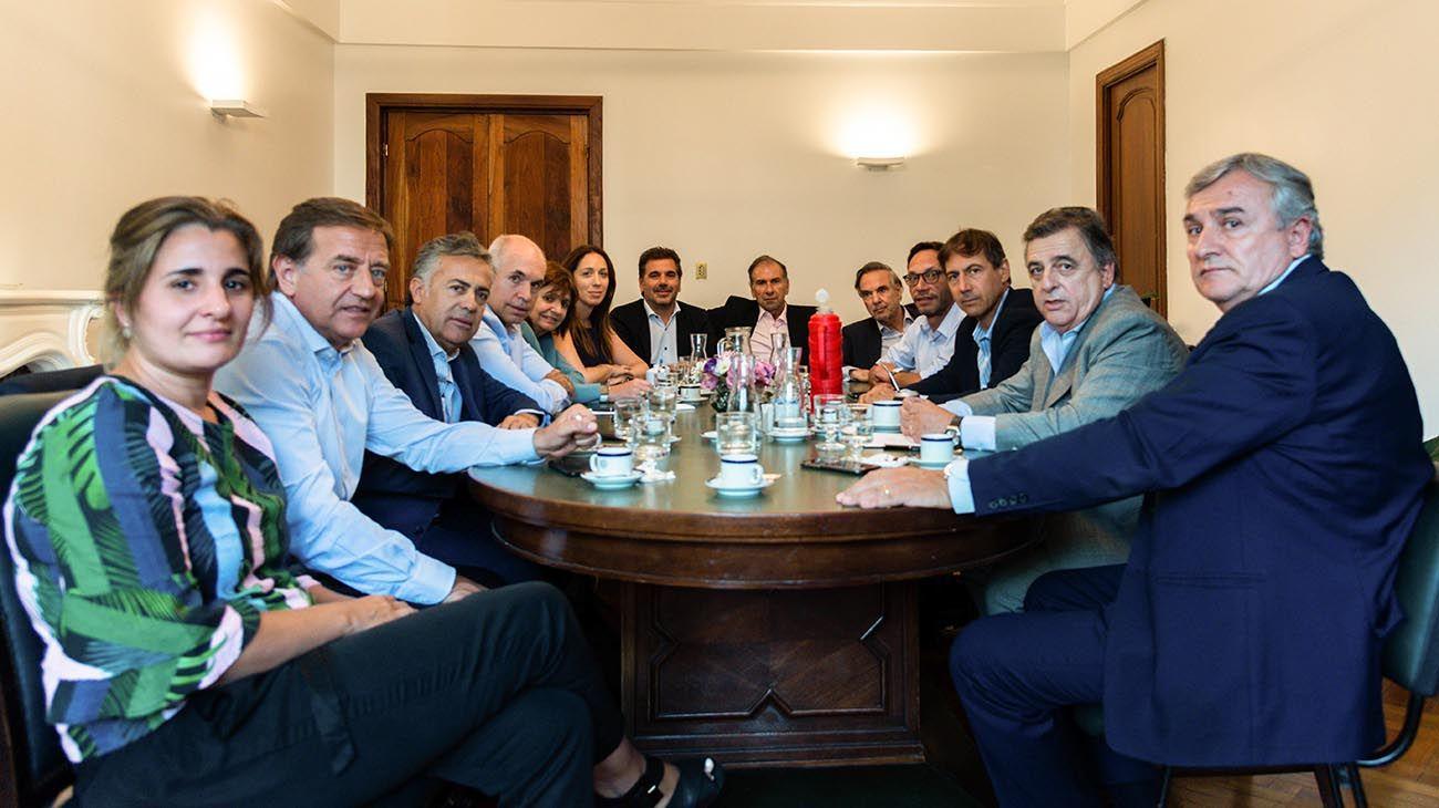 mesa de Juntos por el Cambio