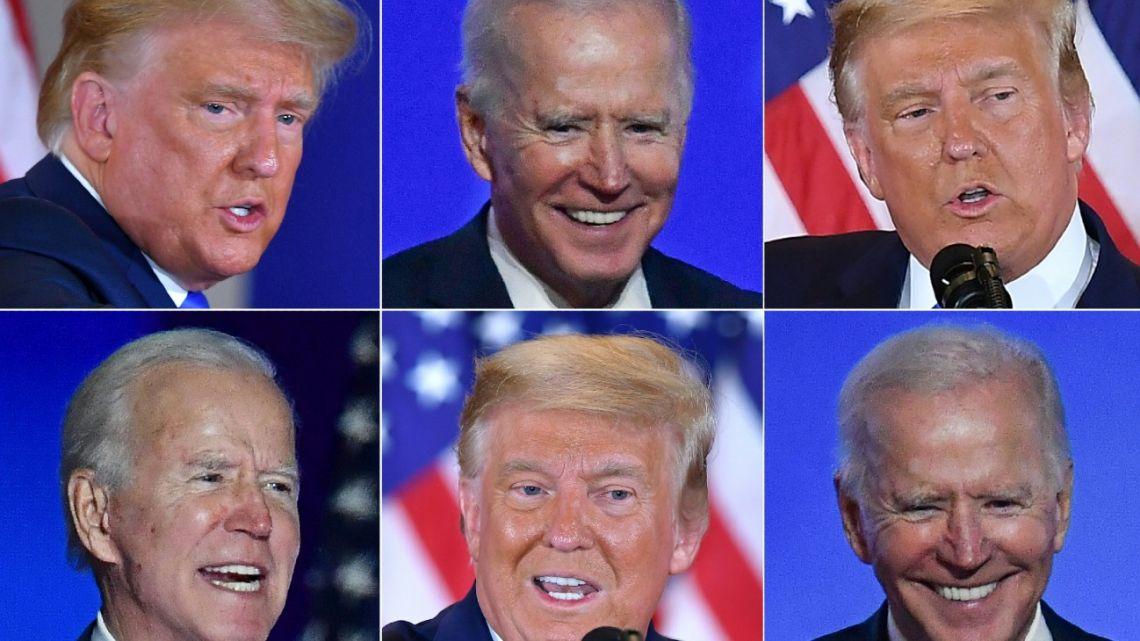 US President Donald Trump and Democratic challenger Joe Biden are battling it out for the White House.