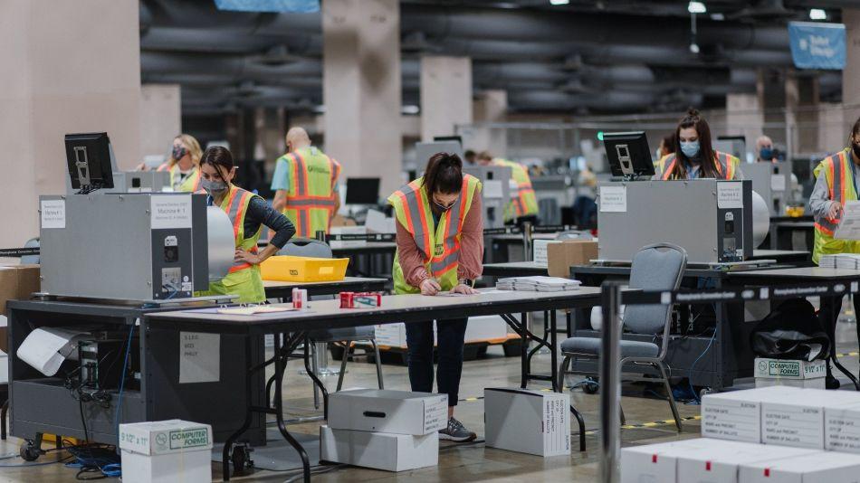 Pennsylvania Officials Count Ballots For 2020 U.S. Presidential Election
