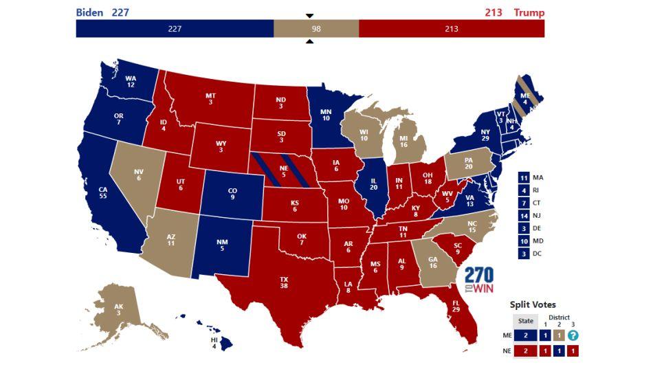 Elecciones en EEUU: Trump y Biden pelean los votos estado por estado