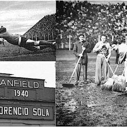 Así lucía el estadio de Banfield en 1940. Foto: Viejos Estadios