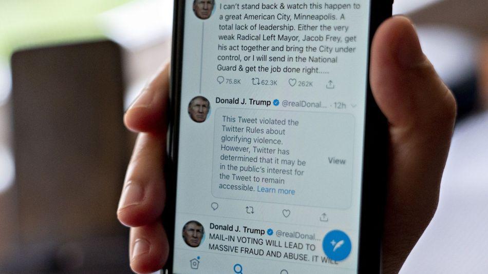 Twitter Slaps Warning On President Trump's Looting-And-Shooting Tweet