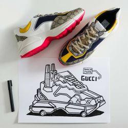 Gucci lanzó un modelo digital de zapatillas