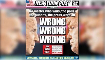 Tapa del The New York Post Sanders y Trump