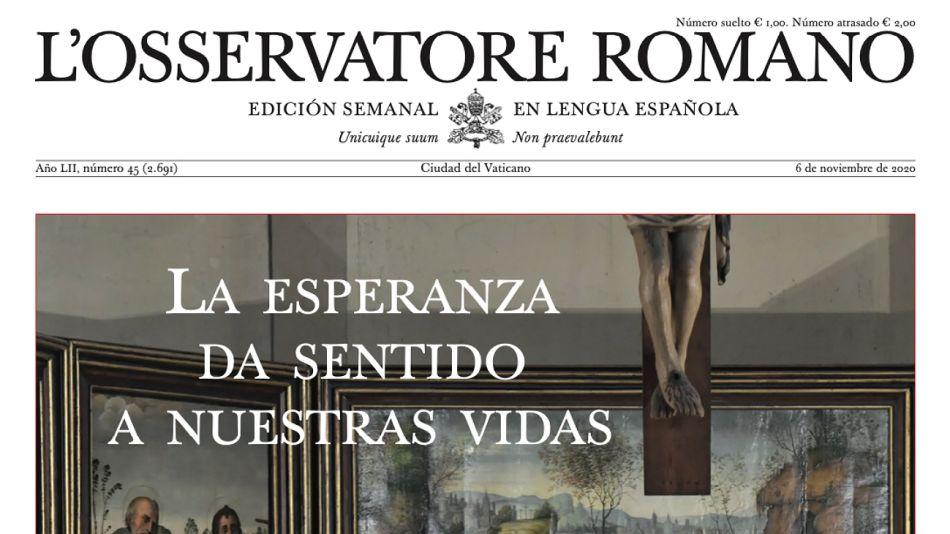 Nueva edición del Osservatore Romano de esta semana.