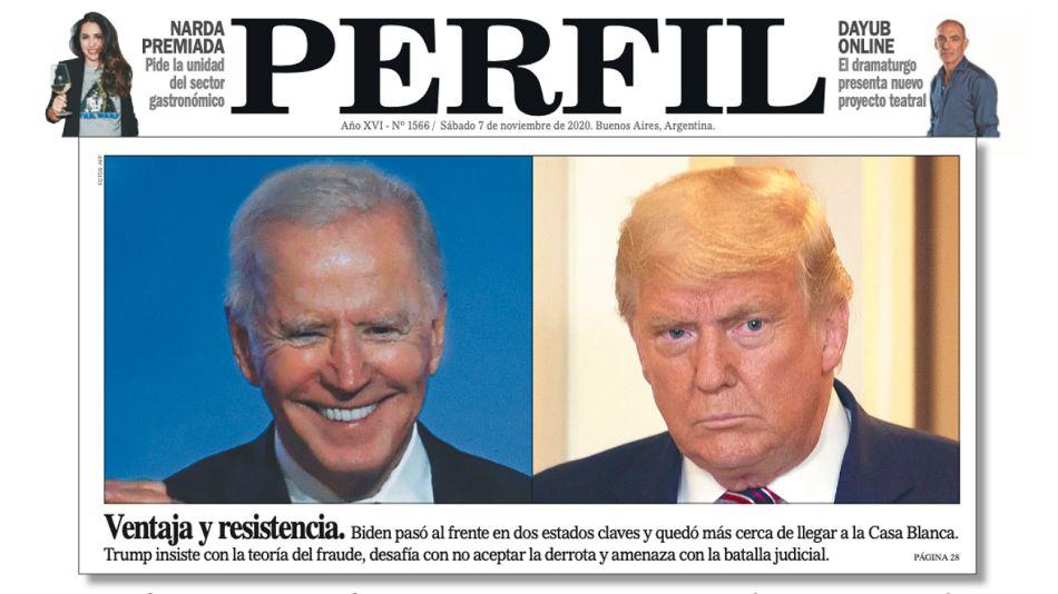 Portada del diario PERFIL de este sábado 7 de noviembre.