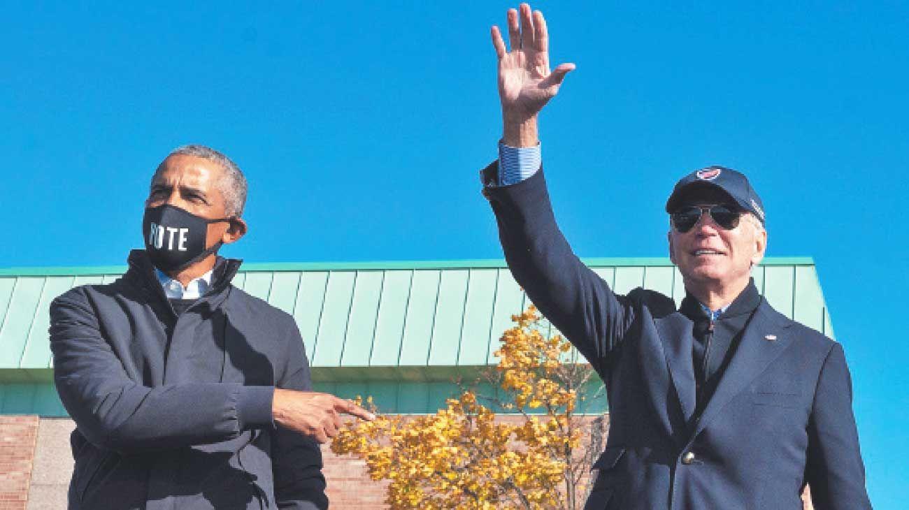 En campaña. Joe Biden y Obama reforzaron el voto afroamericano.