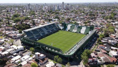 Así se ve el estadio de Banfield desde un dron.