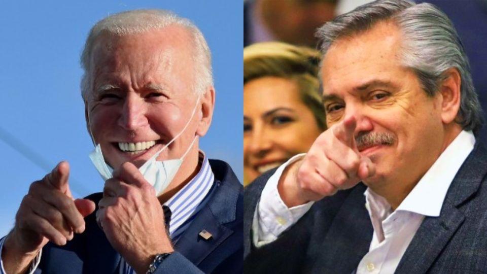 El presidente Alberto Fernández saludó al flamante mandatario de Estados Unidos, Joe Biden.