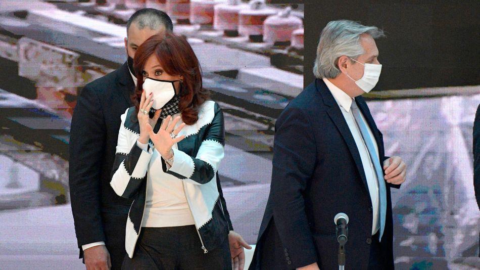 Cristina Kirchner, Alberto Fernández y Martín Guzmán.