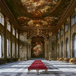 El Old Royal Naval College es sede permanente de filmaciones y se convirtió en el Palacio de Buckingham para The Crown.