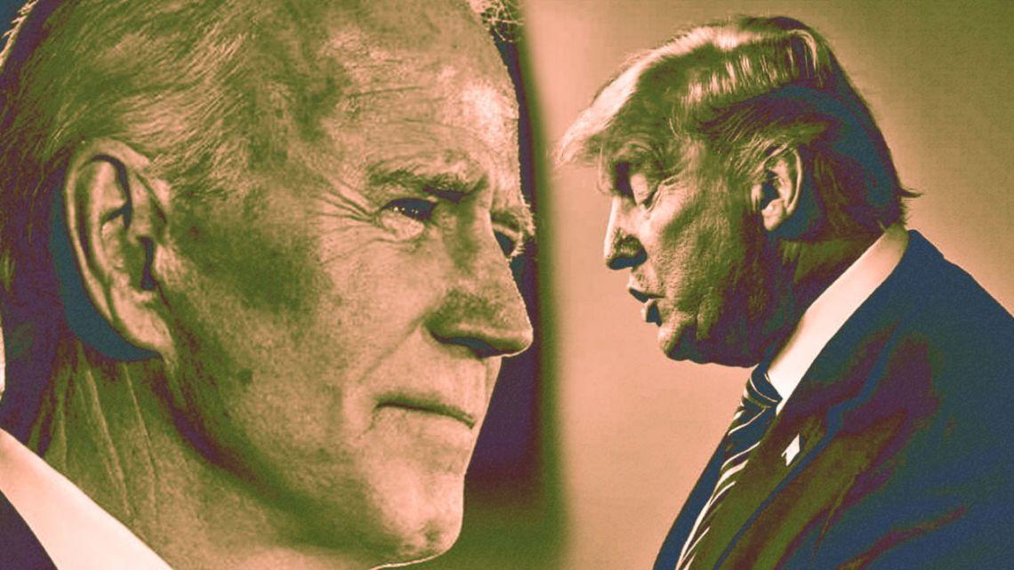 Joe Biden (left) and Donald Trump.