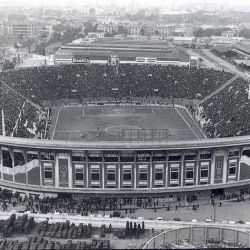Así se ve el estadio de Huracán desde un dron.