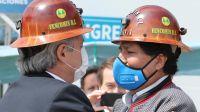 Alberto Fernández y Evo Morales, fotografiados por Béliz