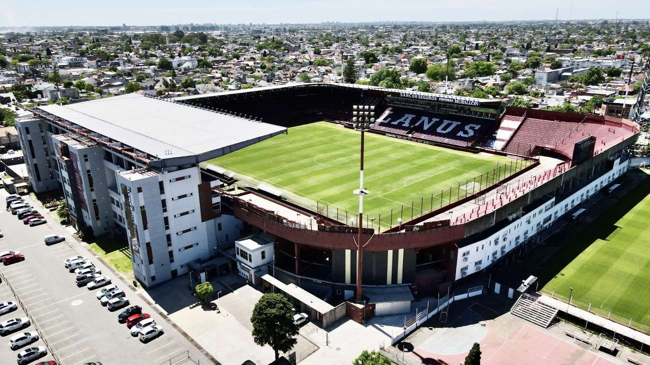 Weekend | Viajes en dron: así se ve el estadio de Lanús