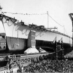Un sorpresivo ataque de una flota de aviones aliados británicos terminó con el gigante alemán del mar.