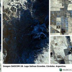 El SAOCOM 1B también captó imágenes del lago Salinas Grandes.