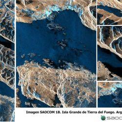 La última imagen corresponde a la Isla Grande de Tierra del Fuego.