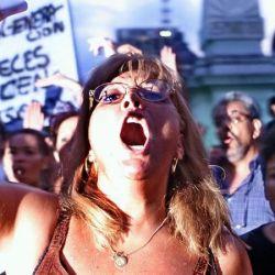 Manifestación en el 2002.