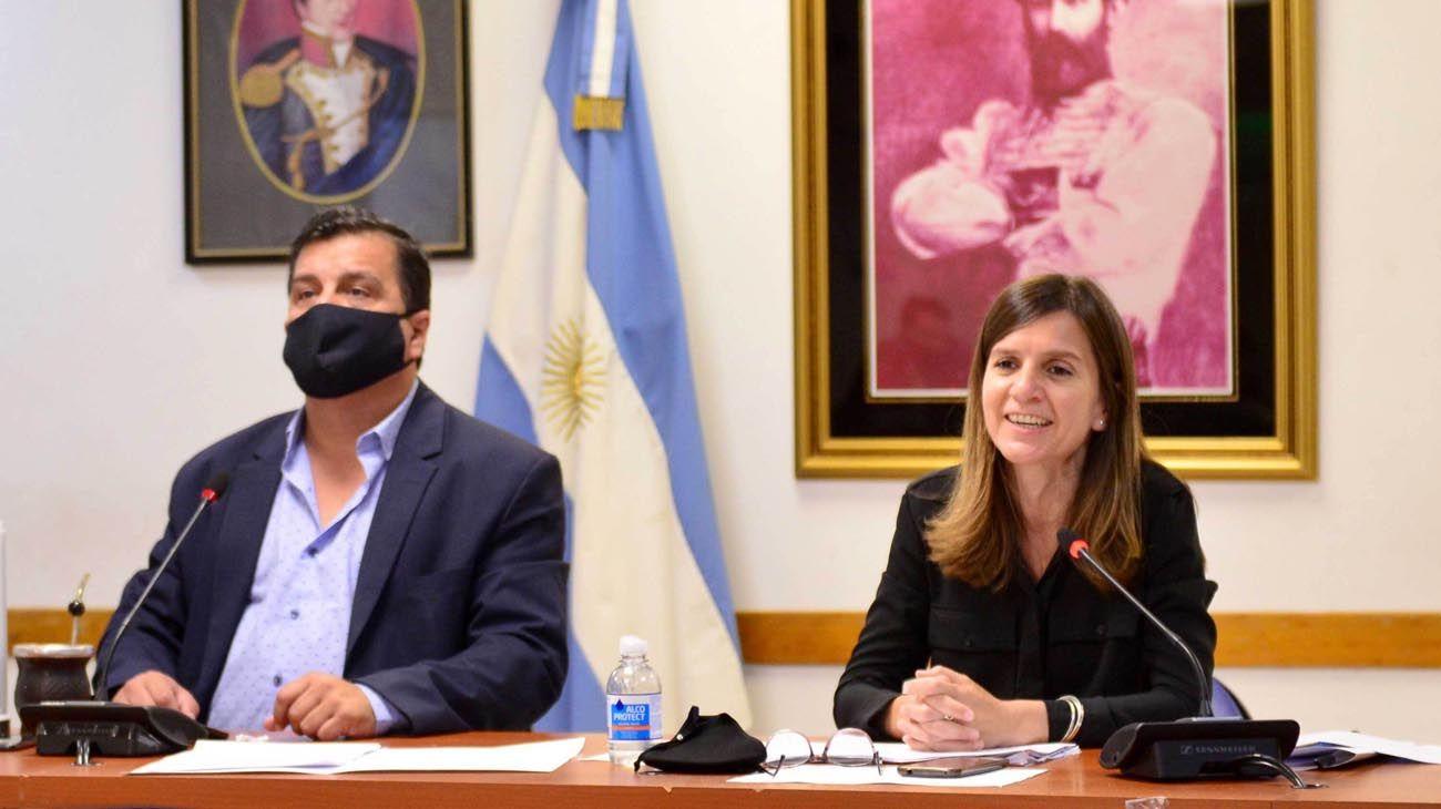 Fernanda Raverta, titular del Anses, en la presentación de Diputados de la nueva fórmula de movilidad jubilatoria