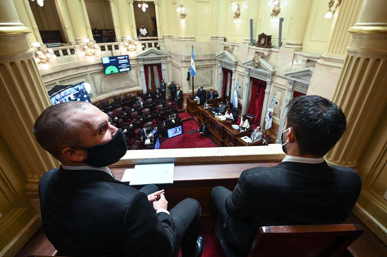 El ministro de Economía Martín Guzmán en el debate del Presupuesto 2021.