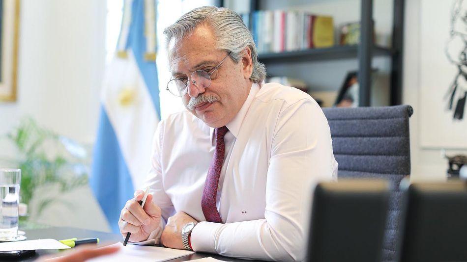 Alberto Fernández en Olivos 20201112